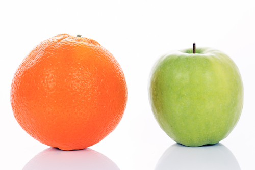 apple orange comparison