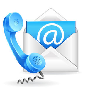email or a phone call
